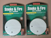 New Lot Of 2 Kidde Basic Smoke And Fire Alarms Model 0915k With Batteries