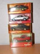187 Scale Herpa Plastic Mercedes Benz Collection Lot Of 4 Models Ho Scale