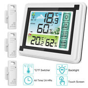Digital Lcd Hygrometer Indoor Outdoor Thermometer Humidity Temperature Monitor