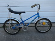 Vintage 1970s Old Schwinn Sting-ray Pixie Blue Boys Bicycle Road Cruiser Bike