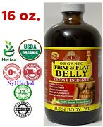 Organic Firm And Flat Belly Detox And Energizer Burn Body Fat And Remove Waste 16 Oz.