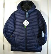 Nwt Menand039s Hollister Guys Puffer Collection Navy Jacket Hoodie Full Zip Sz S M