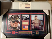 General Douglas Macarthur Autograph Signed Cut Wwii Army Collage Framed Jsa
