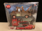 Disney Collection Mater And Red Diecast Cars