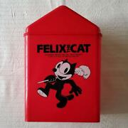 80's Felix The Cat Recycle Bin 10.5l Red Vintage Showa Retro Goods Made In Japan