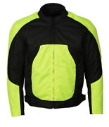 M Boss Motorcycle Apparel Bos11701 High Vis Menand039s Nylon Racer Jacket With Mesh