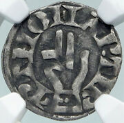 1200ad France Archbishopric Besancon Old Silver Denier Medieval Ngc Coin I87762