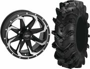 Mounted Wheel And Tire Kit Wheel 14x7 5+2 4/137 Tire 30x10-14 6 Ply