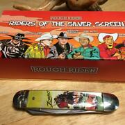 Rough Rider Riders Of The Silver Screen Series Moose 4 1/4 Pocketknife Rr1835