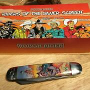 Rough Rider Riders Of The Silver Screen Series Moose 4 1/4 Pocketknife Rr1837
