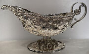 Fine Late 19th C. Baltimore Repousse Sterling Silver Gravy Boat By A G Schultz