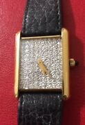 Gorgeous 18k Bueche Girof Watch With Over 1 Carat Diamond Face