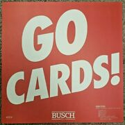 St Louis Cardinals Go Cards Vintage Busch Beer Cardboard Sign 18x18