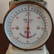 Kitchen Scales Nakagawa Scale Works Vintage Color White Used Item Weighing 4 Kg