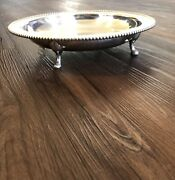 Wallace Silverplate Footed Feet Tray 12andrdquo 643