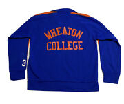 Vtg 70s Wheaton College 38 Court Casuals Track Basketball Warm Up Jacket Sz Xl