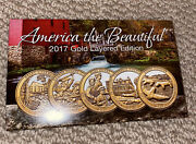 Cable Shopping Network America The Beautiful 2017 Gold Layered Edition Coins