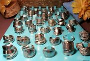 Lot Of 50 Spoon Rings Sterling Silver Plate/ Stainless Steel Mix Band Spiral