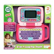 Leapfrog 2 In 1 Leaptop Touch, Cute Pretend Laptop For Toddlers Pink New Fast ✈
