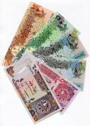 Qatar Lot Of 6 Banknotes 1996 - 2003 Nd Various Dates And Denominations Unc