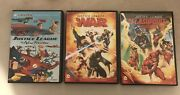 Justice League Animated Dvd Lot The New Frontier / War / Flashpoint Paradox