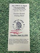 Tiger Woods Signed 1995 Us Open Pairing Sheet Jsa Loa Auto With Tickets 1995 Pga