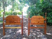 One Pair 2 Solid Cedar Adirondack Twin Headboards With Cannonballs Lake Cabin