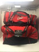 Vintage Marlboro Unlimited Gym Sports Red Duffle Bag Large Combo 2 Bags. Euc