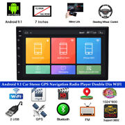 7 Inch Android 9.1 Lcd Car Stereo Gps Navigation Radio Double Din Wifi Player