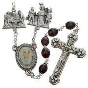 Rosary Stations Of The Cross Dark Brown Wood - Easter Rosary
