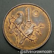 South Africa 1 Cent 1968. Km74.1. One Penny Coin. Sparrows. Birds. 1 Year Issue