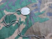 Wwii Us Navy Round Dog Tag With Chain B2