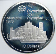 1973 Canada Elizabeth Ii Olympics Montreal City Proof Silver 10 Coin Ngc I87830