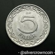 Hungary People's Republic 5 Filler 1970 Bp. Km549. Five Cents Coin. Budapest.