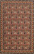 8x11 Vintage Floral Aubusson Chinese Area Rug Hand-knotted Wool All-over Carpet