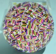 Baccarat Millefiori Multi-color Art Glass Paperweight Candy Canes 20th Century