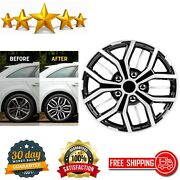 Universal Hubcap Wheel Cover Fits All Vehicles 16 Inch Car Black Silver Set Of 4