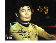 George Takei Star Trek Sulu Hand Signed Autographed In Person Beckett Bas Coa
