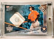 Hr Sets Ws Records George Springer Base Relic /49 - 2017 Topps Now Astros 859b