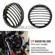 5.75 Headlight Grill Cover For Harley Davidson Iron 883 Seven Two Sportster 883