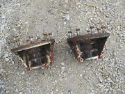 Oliver 88 Diesel Tractor 2 3/4 Axle 3 And039uand039 Bolt Mount 9 Bolt Wheel Hubs And Studs
