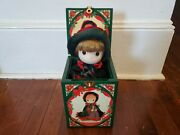 Rare Precious Moments Christmas Musical Wind Up Jack In The Box Doll, 1991 Works