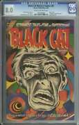 Black Cat Mystery Comics 45 Cgc 8.0 Cr/ow Pages // Classic Cover