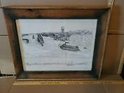 Jim Heinlen Art Print Signed And Numbered Winona Mn Delta Queen Mississippi River