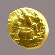 Celtic Gaul Ambiani Tribes Gold Quarter Stater Hybrid Rare 2nd Century Bc