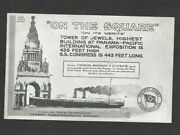 Pk57746postcard-pacific Coast Steamship Co-on The Square-highest Building Ppie