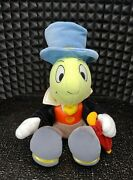 10 Vintage Disney Jiminy Cricket From Pinocchio, Plush Doll, Toy Bean Bag Clean
