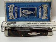 Vintage Case Xx Classic 0000 Good Earth Trapper Pocket Knife 72007 1/2 Ra