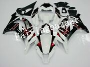 Fit For 2011-2015 Zx10r Candy Red White Black Abs Injection Bodywork Fairing Kit