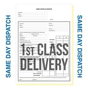 Used Vehicle Invoice Pads A4 - Car Sales Pads - Best Quality 1st Class Delivery